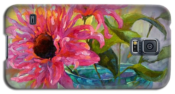 Galaxy S5 Case featuring the painting Tickled Pink by Chris Brandley