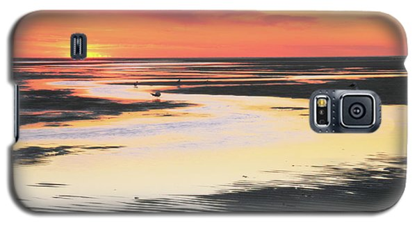 Tidal Flats At Sunset Galaxy S5 Case by Roupen  Baker
