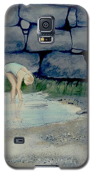 Galaxy S5 Case featuring the painting Tidal Pool Treasures by Anthony Ross