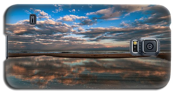 Galaxy S5 Case featuring the photograph Tide Pool Reflections by Jim Moore