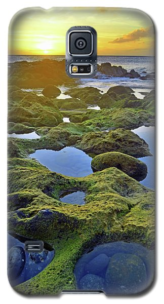 Galaxy S5 Case featuring the photograph Tide Pools At Sunset by Tara Turner