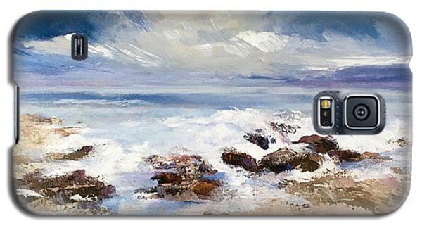 Galaxy S5 Case featuring the painting Tidepool by Helen Harris