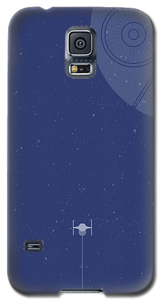 Space Ships Galaxy S5 Case - Tie Fighter Defends The Death Star by Samuel Whitton