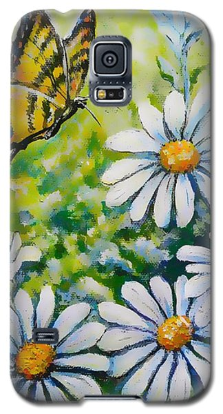 Tiger And Daisies  Galaxy S5 Case