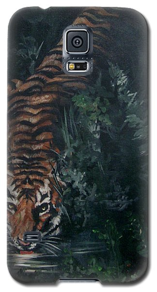 Galaxy S5 Case featuring the painting Tiger by Bryan Bustard