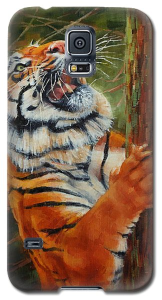 Tiger Chasing Prey Galaxy S5 Case by Margaret Stockdale