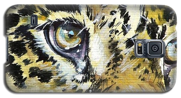Galaxy S5 Case featuring the painting Tiger Eyes by Kovacs Anna Brigitta