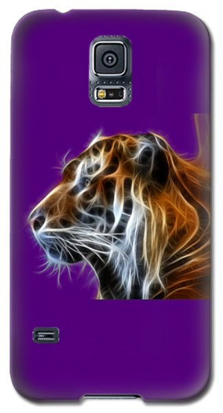Tiger Fractal Galaxy S5 Case by Shane Bechler