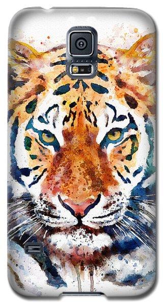 Tiger Head Watercolor Galaxy S5 Case