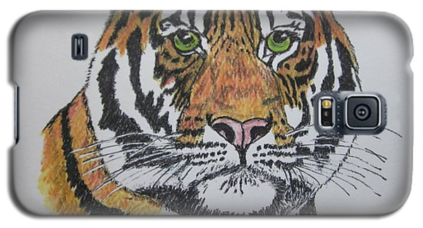 Galaxy S5 Case featuring the painting Tiger by Kathy Marrs Chandler