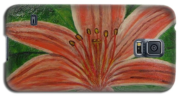 Galaxy S5 Case featuring the painting Tiger Lilly by Barbara Yearty