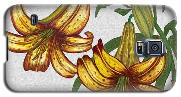 Galaxy S5 Case featuring the digital art Tiger Lily Blossom  by Walter Colvin