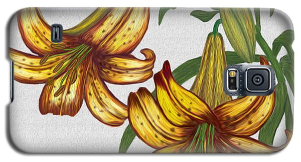 Tiger Lily Blossom  Galaxy S5 Case by Walter Colvin