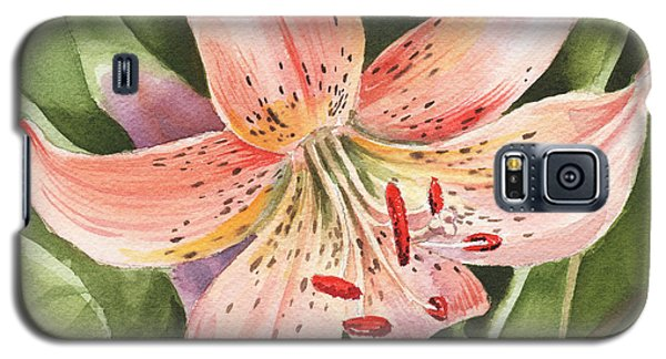 Lily Galaxy S5 Case - Tiger Lily Watercolor By Irina Sztukowski by Irina Sztukowski