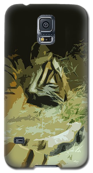 Galaxy S5 Case featuring the photograph Tiger by Maggy Marsh