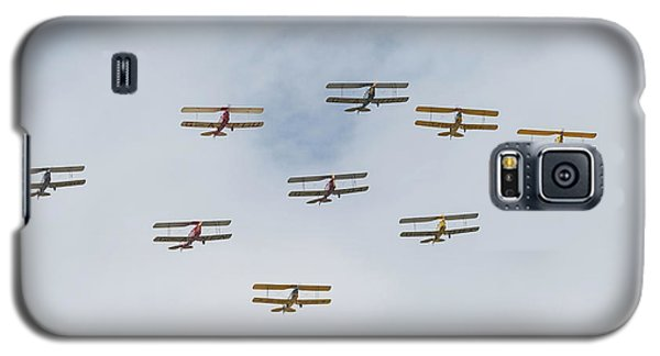 Galaxy S5 Case featuring the photograph Tiger Moth Formation by Gary Eason