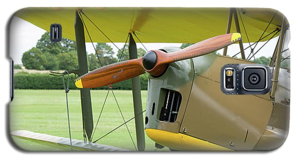 Galaxy S5 Case featuring the photograph Tiger Moth Propeller by Gary Eason
