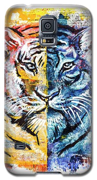 Tiger, Original Acrylic Painting Galaxy S5 Case