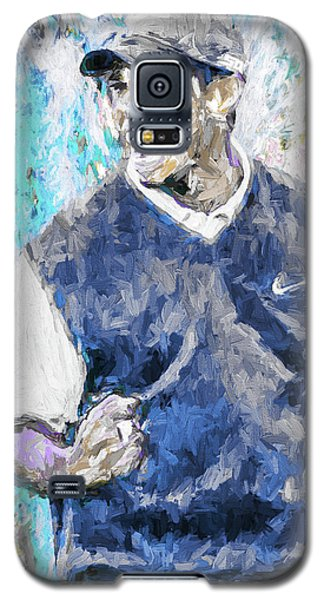Galaxy S5 Case featuring the photograph Tiger Says 2 Painting Digital Golf by David Haskett