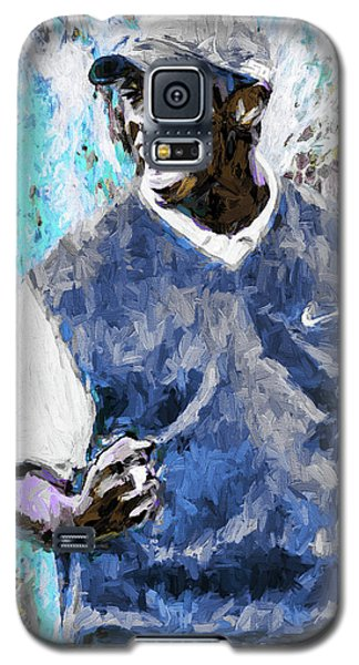 Galaxy S5 Case featuring the photograph Tiger Says Digital Painting Golf by David Haskett