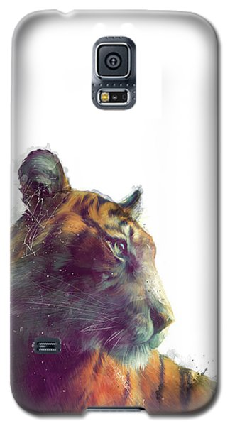 Tiger // Solace - White Background Galaxy S5 Case by Amy Hamilton