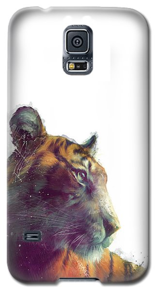 Tiger // Solace - White Background Galaxy S5 Case