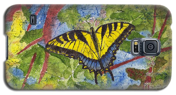Tiger Swallowtail Watercolor Batik On Rice Paper Galaxy S5 Case