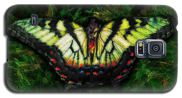 Galaxy S5 Case featuring the photograph Tiger Swallowtail by Iowan Stone-Flowers