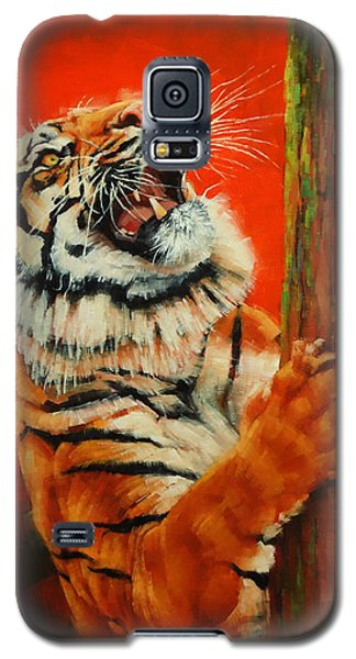 Tiger Tiger Burning Bright Galaxy S5 Case by Margaret Stockdale