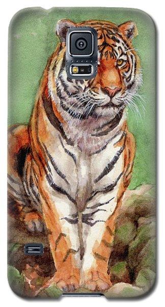 Tiger Watercolor Sketch Galaxy S5 Case