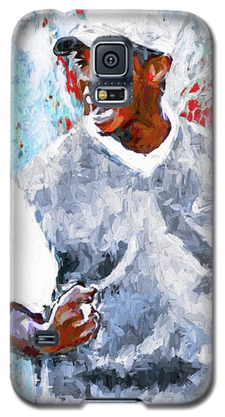 Tiger Woods One Two Red Painting Digital Galaxy S5 Case