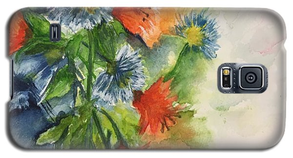 Tigerlilies And Cornflowers Galaxy S5 Case by Lucia Grilletto