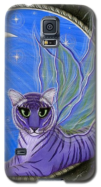 Tigerpixie Purple Tiger Fairy Galaxy S5 Case by Carrie Hawks