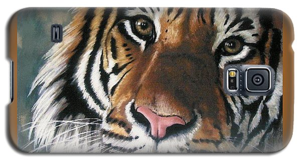 Galaxy S5 Case featuring the pastel Tigger by Barbara Keith