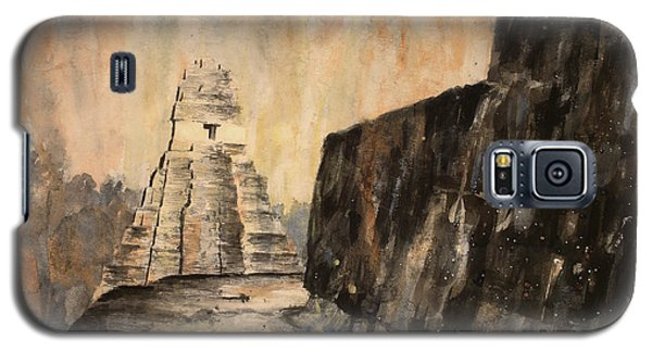 Galaxy S5 Case featuring the painting Tikal Ruins- Guatemala by Ryan Fox