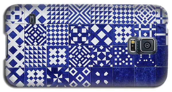 Tile Blue Background Galaxy S5 Case