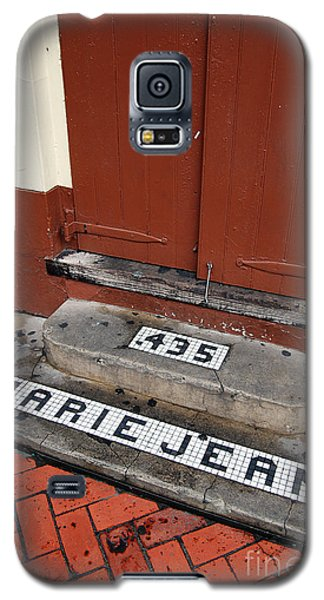 Tile Inlay Steps Marie Jean 435 Wooden Door French Quarter New Orleans Galaxy S5 Case by Shawn O'Brien