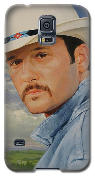 Galaxy S5 Case featuring the painting Tim Mcgraw by Cliff Spohn