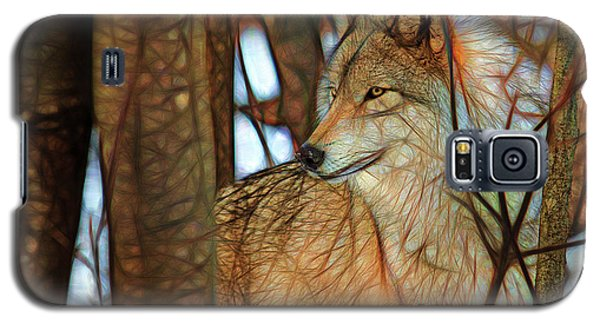 Timber Wolf Colorful Art Galaxy S5 Case