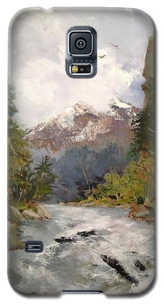 Galaxy S5 Case featuring the painting Timberlands by Helen Harris