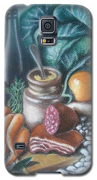 Galaxy S5 Case featuring the painting Time For Soup by Inese Poga