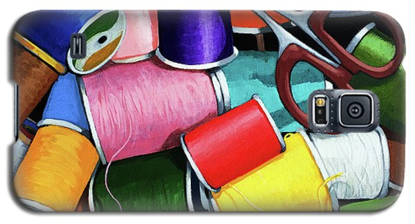 Time To Sew - Colorful Threads Galaxy S5 Case