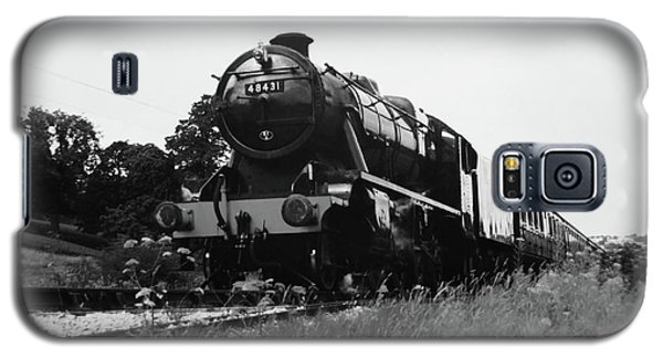 Galaxy S5 Case featuring the photograph Time Travel By Steam B/w by Martin Howard