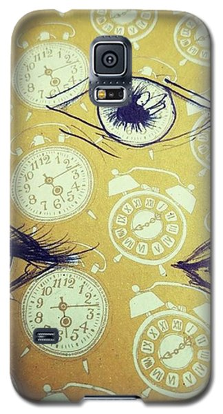 Galaxy S5 Case - Time Waits For No Man, And Tomorrow Is by Eyeon Energetic