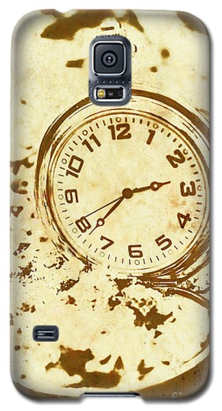 Time Worn Vintage Pocket Watch Galaxy S5 Case