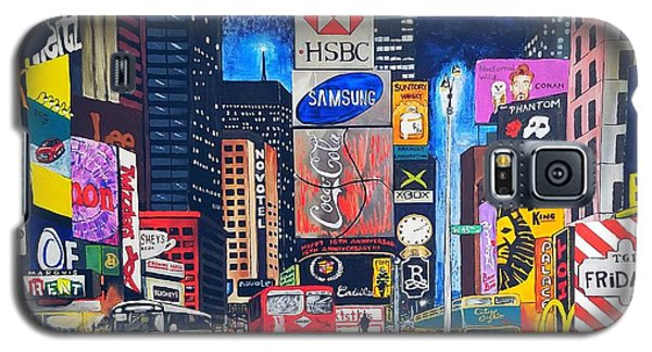 Times Square Galaxy S5 Case by Autumn Leaves Art
