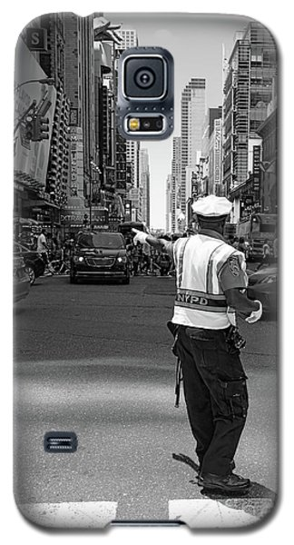 Galaxy S5 Case featuring the photograph Times Square, New York City  -27854-bw by John Bald