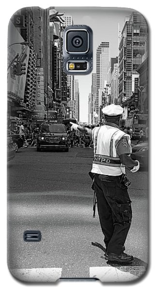 Times Square, New York City  -27854-bw Galaxy S5 Case