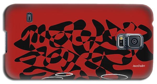 Galaxy S5 Case featuring the digital art Timpani In Orange Red by Jazz DaBri