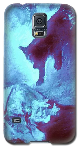 Galaxy S5 Case featuring the painting Tip Toeing On Little Cat Feet by Denise Fulmer